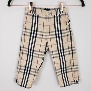 Burberry London Cotton Nova Check Toddler Pants